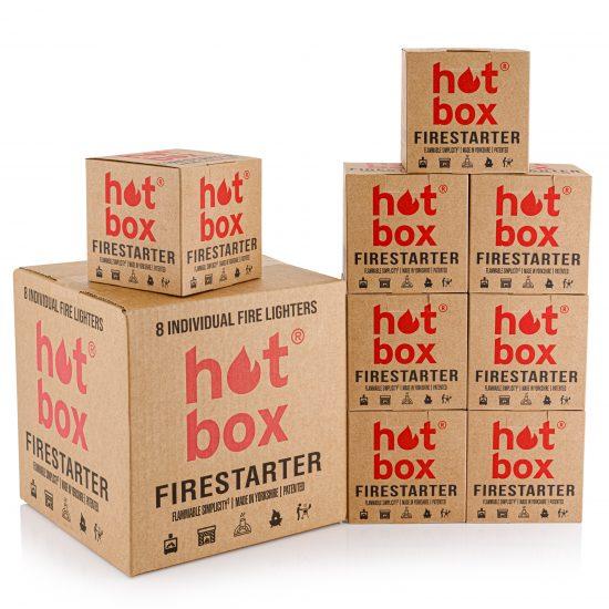8 Individual Fire Lighters | Fire Starters hotboxfirestarter.com