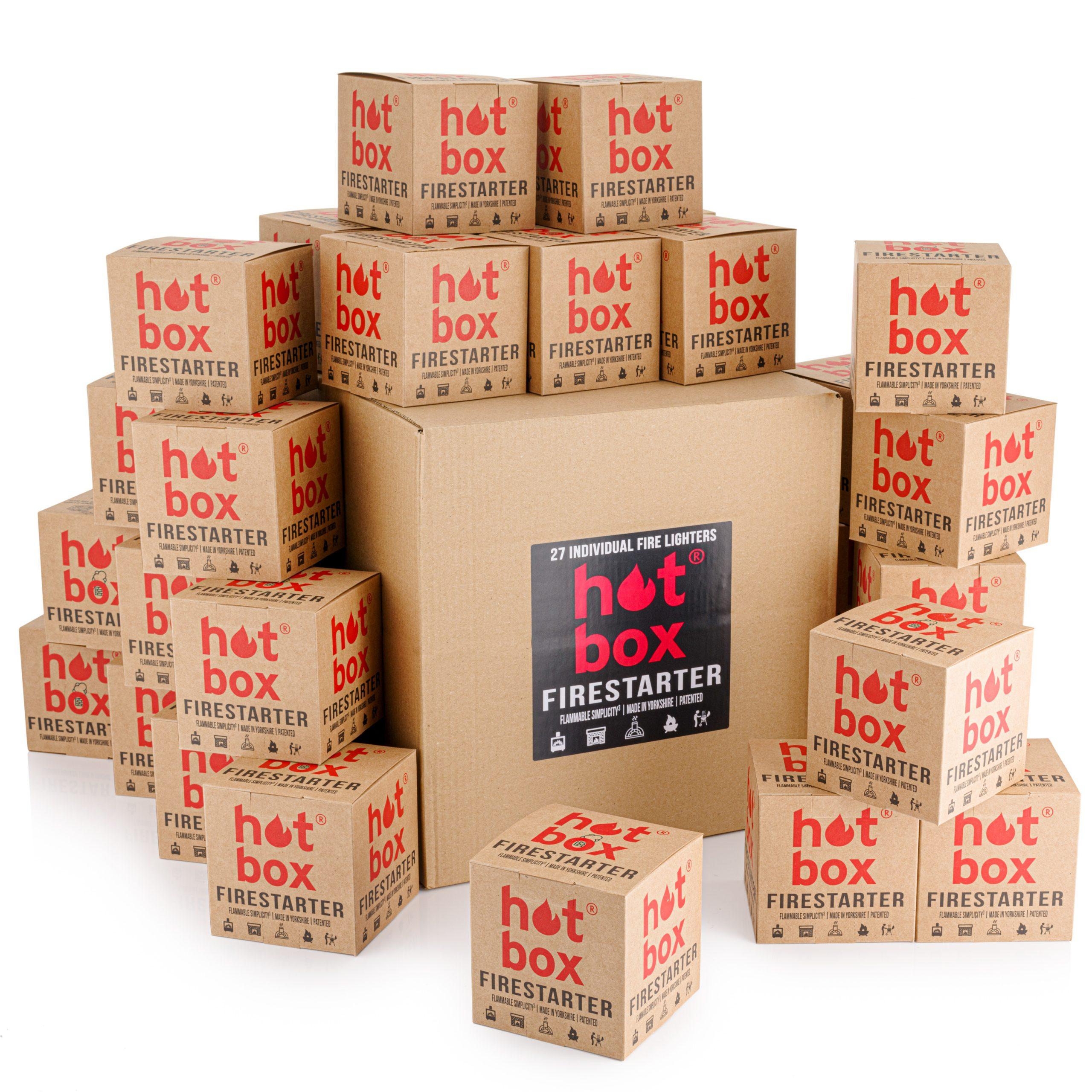 27 Individual Fire Lighters   Hot Box Firestarter