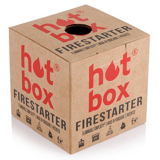 How to light a fire with a hot box firestarter | Natural Firelighter