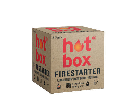 8 Individual Fire Lighters - Hot Box Firestarter