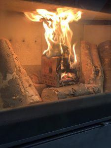 the best way to light a wood burner