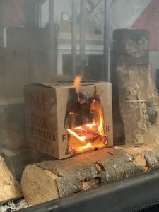 lighting a fire without kindling